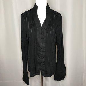 Vintage GEORGE mandarin collar blouse
